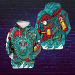 Bionic Lion Themed Art 3D Printed Hoodie