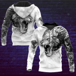 Lion Tattoo Art Back And White Style 3D Hoodie
