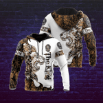 Lion The King Cool Tattoo 3D Hoodie