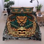 Lion Skull Wing Flower Bedding Set Home Decor