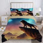 Lion And Whole Sky 3D Printed Bedding Set Bedroom Decor