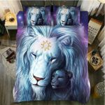 Lion Sun Versus Moon 3D Printed Bedding Set Bedroom Decor
