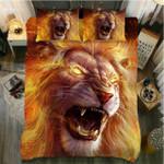 Flaming Lion Power Supremacy 3D Printed Bedding Set Bedroom Decor