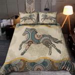 Mandala Horse Running And Flower Pattern 3D Printed Bedding Set Bedroom Decor