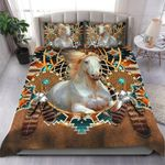 White Horse With Dreamcatcher And Native Pattern 3D Printed Bedding Set Bedroom Decor