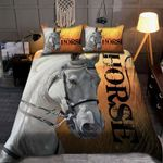 White Horse In The Farm With Sunshine 3D Printed Bedding Set Bedroom Decor