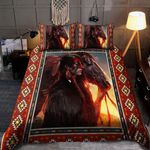 Native Man And Horse And Sunset 3D Printed Bedding Set Bedroom Decor