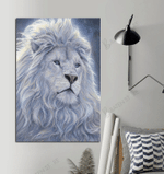 White Lion Supremacy For Lion Lovers Vertical Poster Matte Canvas