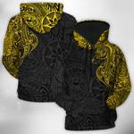 The Horse And Polynesian Pattern Painting Art 3D Hoodie Full-zip Hoodie Sweatshirt T-shirt