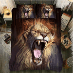 Lion Growling Bedding Set Double Full Queen Extra Large Pillowcase Quilt Cover