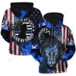 America By Birth Police By Choice Lion 3D Hoodie Full-zip Hoodie Sweatshirt T-shirt