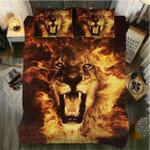 Flame Art Lion 3D Printed Bedding Set Bedroom Decor
