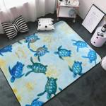 Blue Baby Sea Turtle Area Rug Home Decor