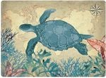 Sea Turtle Print Large Ocean Theme Doormat Home Decor