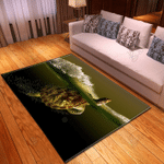 Sea Turtle Swimming Water Theme Area Rug Home Decor