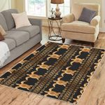 Tribal Sea Turtle Polynesian Hawaiian Area Rug Home Decor