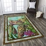 Turtle With Flowers Area Rug Home Decor