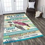 Turtle Wisdom Travel At Your Own Pace Area Rug Home Decor