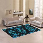 Sea Turtle Polynesian Tribal Hawaiian Area Rug Home Decor