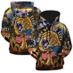 US Army Proud Lion 3D Hoodie Full-zip Hoodie Sweatshirt T-shirt