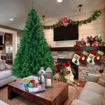 Artificial Christmas Tree 7Ft 1100 Tips Pvc Material For Christmas Holiday Decor