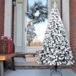 Artificial Christmas Tree 7ft Pvc Flocking Best Decoration For Home And Christmas Holiday