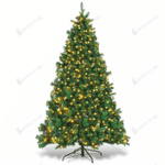 Artificial Christmas Trees 6ft 200 Tips With Leds Light Metal Stand For Christmas Holiday
