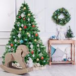 Artificial Christmas Tree Pvc 6ft 1000 Tips Premium Hinged w/ Metal Stand Best Decoration for Christmas