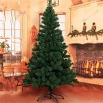 Green Artificial Christmas Tree 6ft w/ Mental Stand Best Decor For Christmas Holiday