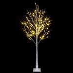 Snowflake Artificial Christmas Tree with 6ft 96 Leds Lamp For Christmas Holiday Decor