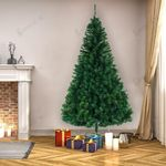 Artificial Christmas Tree 8FT with 1138 Branches and Metal Stand Best Decoration For Christmas Holiday