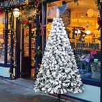 Pvc Flocking Artificial Christmas Tree 6ft 750 Tips with Metal Stand For Christmas Holiday
