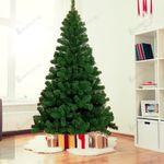 Best Decoration for Christmas Holiday 7.5ft Premium Artificial Christmas Tree 1200 Tips PVC Spruce Hinged Tree Unlit Metal Stand