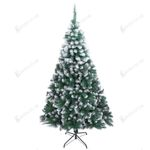 Spray White Pvc Artificial Christmas Tree 7ft 870 Tips with Mental Stand For Christmas Holiday Decor