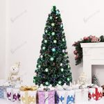Small Light Fiber Optic Artificial Christmas Tree 7ft 290 Tips with Leds Light For Christmas Holiday