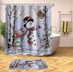 Christmas_Snowman_3D_Bathroom_Curtain