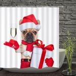 Christmas_Dog_Bathroom_Curtain_Decoration