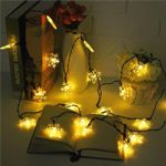 Snowflake Solar Power String Lights 20 Led For Christmas Holiday Decoration