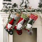 Christmas Stocking 19.6''x9.8'' Old Man Gift Bag For Home Decor