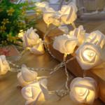 "Battery LED Rose Lights String 10 LED 59"" For Christmas Holiday Decoration"