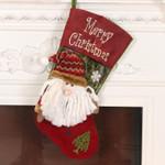 Christmas Stocking 19.6''x11.02'' Santa Snowman Gift Bag For Home Decor