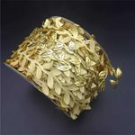 Artificial Gold Cloth Leaves Christmas Unlit Garland 787'' For Home Decor