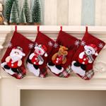 Christmas Stocking 9.05''x6.29'' Sock Lovely Gift Bag For Home Decor