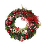 Artificial Christmas Unlit Wreath 17.68'' Pine Needle For Home Decor