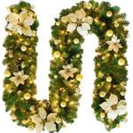 Artificial Christmas Pre-Lit Garland 106.2'' For Home Decor