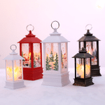 Vintage Lantern Merry Christmas Hand Lamp Led Lights 7.8inch For Christmas Holiday Decoration