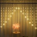 """Snowflake Led String Lights 98.4"""" For Christmas Holiday Decoration"""