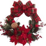 Artificial Christmas Unlit Wreath Plant Rattan Circle For Home Decor