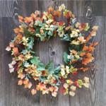 Artificial Sink Flower Christmas Unlit Wreath For Home Decor
