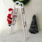 Santa Claus Doll Electric Climbing Ladder For Christmas Holiday Decor